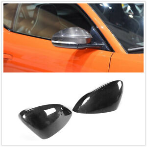 For Jaguar F Type Carbon Fiber Mirror Cover 2013 2014 2015 2016 Add On A
