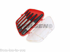 5 Piece Screw Extractor Set with Case -   Remove Damaged studs  - 3 - 19 mm