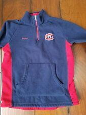 Boys Youth Reebok NHL Montreal Canadians 1/4 zip Fleece Size M 10/12