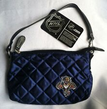 NHL Florida Panthers Quilted Wristlet Purse- Navy