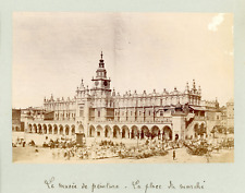 Pologne, Cracovie, Place du Marché, Place Rynek  Vintage silver print Tira