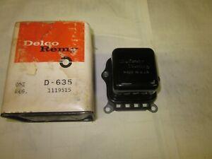 NOS 1963-72 Chevy Camaro Chevelle Nova GTO Delco Regulator 1119515 Dated 1970