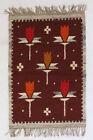 CLOVER Vintage Polish Folk Art Textile Wall Hanging / Rug Cepelia NEW OLD STOCK