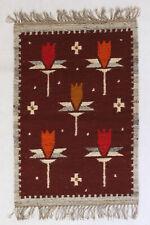 More details for clover vintage polish folk art textile wall hanging / rug cepelia new old stock