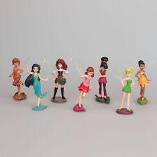 7 piezas Mini Peter Pan Campanilla bell Ángel Set Figura De Acción Juguetes