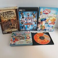 Lot 5 PC Games Venture Africa SIMS Deluxe DQ & Fast Food Tycoon Ski Resort Mogue