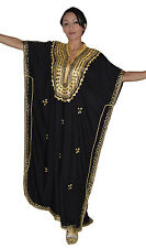 Caftan Dress Casual Summer Kaftan Abaya Moroccan Islamic Beach Djellaba Cotton
