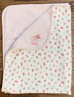 Carter's Just One Year Baby Blanket Pink Butterfly Flowers Sweet Girl Cotton