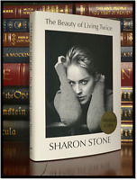 Beauty Of Living Twice ✎SIGNED✎ by SHARON STONE New Hardback 1st Edition Print