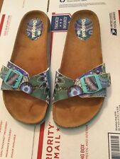 EXCELLENT CONDITION Desigual Multi Colored Abstract Print Slide-on Sandals - 39