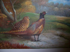 ORIGINAL OIL PAINTING PHEASANTS IN THE FALL WELL DONE