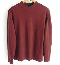 Lenor Romano Sweater 100% Wool Brown Made in Italy Size M
