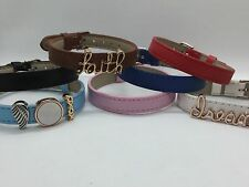 Slide Charm Leather Bracelet *New* Fits Keep Collective