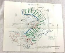 WW1 Military Map The Battle of Ypres 5th November 1914 Menin France Trenches