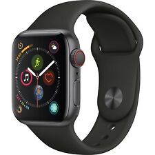 Apple Watch S4 40mm Space Gray Aluminum Black Sport band (GPS + Cell) MTUG2LL/A