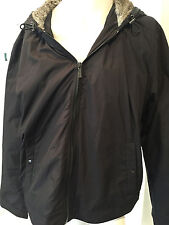 MICHAEL KORS MEN'S Black Faux Fur Hooded Jacket Outerwear SIZE XL  $300!!! RC