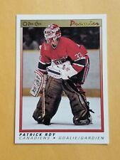 1990-91 Opc Premier Hockey #101 Patrick Roy Montreal Canadiens