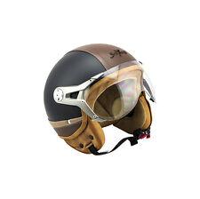 Soxon Sp-325-plus Yellow · Retro Helmet Chopper Biker scooter Demi-jet Bobber C