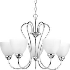 Progress Lighting Heart Collection 5-Light Polished Chrome Chandelier