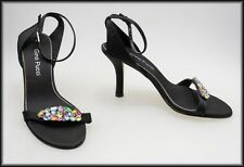 GINO PUCCI WOMEN'S HIGH HEELS STRAPPY JEWELLED FASHION SHOES SIZE 7 M