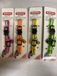 HI VIS CAT KITTEN COLLAR BRIGHT DESIGN WITH SAFETY CATCH ADJUSTABLE WITH BELL