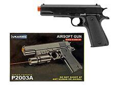 """7.75"""" Black Spring 1911 Replica Airsoft Pistol Handgun Gun Air Soft P2003A w/BBs"""
