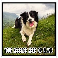 ND2 Border Collie dog personalised Square cake topper icing sheet