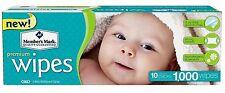 Members Mark Premium Diaper Baby Adult Wet Wipes 1000 ct Case (10 packs x 100)