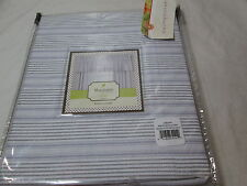 New Mary Jane's Farm Home LAFAYETTE  Valance 80x15 ~ Purple, Grey, White Stripe