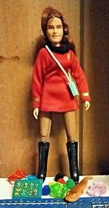 "Mego / Retro Star Trek Red Lieutenant Female 8"" Custom Outfit Figure & More"