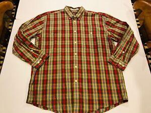 ORVIS Men's Red Plaid Shirt- Size Large- Retails $98