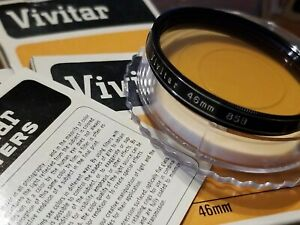 Vivitar 46mm 85B Warming Lens Filter with Case/Box New Old Stock F/Camera Lens