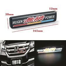 1Pcs JDM Mugen LED Light Car Front Grille Badge Emblam Illuminated Decal Sticker