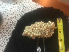 Bridal  Pearl & Crystal Headpiece Wedding Accessories Vintage/New