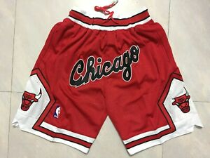 HOT Chicago Bulls Vintage Men's Red Basketball Shorts Size: S-XXL