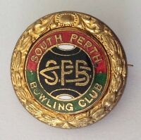 South Perth Bowling Club Badge Pin Vintage Lawn Bowls (L16)
