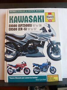KAWASAKI EX500 GPZ500S 1987-2008 ER500 ER-5 97-07 HAYNES SERVICE & REPAIR MANUAL