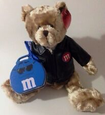 M&Ms Teddy Bear With Leather Jacket and Blue Tin Plush Toy by Galerie 2003