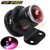 Black Lucas-Style LED Tail Light Custom For Harley Cafe Racer Bobber Chopper New