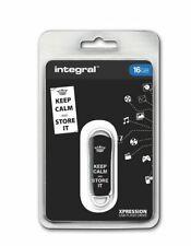 Integral USB 2.0 Expression Flash Drive - 16GB Keep Calm Black INFD16GBXPRKCSIBK