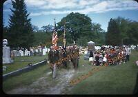 Southampton Massachusetts American Legion 1940s 35mm Slide Kodachrome Cemetery