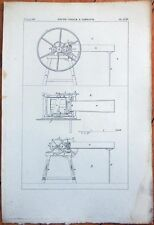 1830s French Agriculture Print: 'Hache-Paille A Tambour - CCXI'