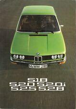 BMW Série 5 E12 1975-76 marché du ROYAUME-UNI RABATTABLE sales brochure 518 520 520 i 525 528