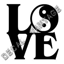 Love Yin Yang Vinyl Sticker Decal - Choose Size & Color