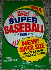 RARE Unopen 1984 Topps Super Size MLB Baseball Picture Card Pack Dan Quisenberry