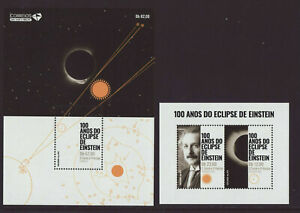 Sao Tome & Principe 2019 MNH - Einstein Eclipse - Joint Issue with Portugal