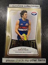 2013 AFL SELECT PRIME DRAFT PD50 RYAN GRIFFEN WESTERN BULLDOGS 017/145