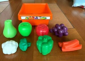 LITTLE TIKES COUNTRY VICTORIAN KITCHEN FRUIT VEGETABLE DRAWER W PLAY FOOD