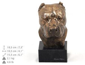 Dogo Argentino, dog bust marble statue, ArtDog Limited Edition, USA
