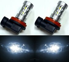 LED 50W H11 White 5000K Two Bulbs Head Light High Beam Replacement Show Use